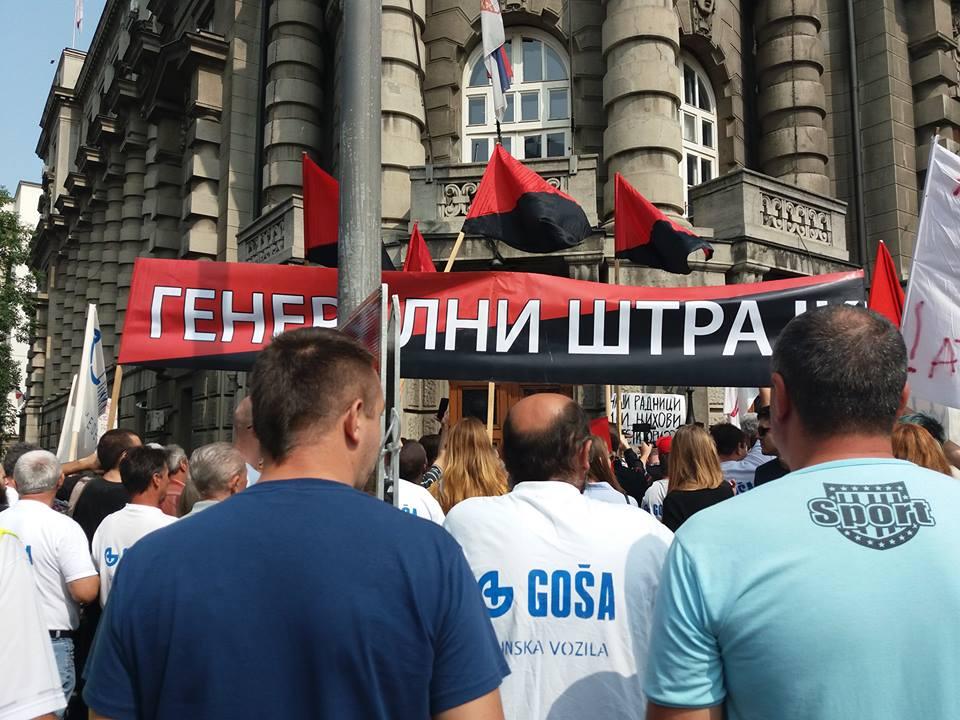 Belgrad: Protest von Gose-Arbeiter*innen
